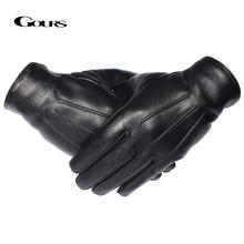 GOURS зимние перчатки мужские перчатки из натуральной кожи перчатки с сенсорным экраном из настоящей овчины черные теплые перчатки для вождения варежки Новое поступление GSM050