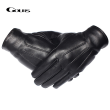 GOURS Winter Gloves Men Genuine Leather Gloves Touch Screen