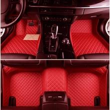 Прочный кожаный автомобильный комплект напольных ковриков для CHEVROLET Captiva, Corvette, Aveo 2013- 2005- индивидуальный автомобильный коврик для ног