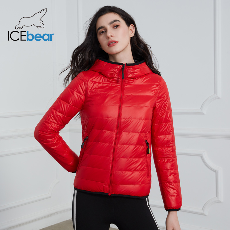 ICEbear 2020 New Women Lightweight Down Jacket Stylish Casual Spring Jacket Brand Clothing GWY19151D