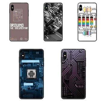Computer Battery Phone Circuit Board For Samsung Galaxy S20 S10e S10 S9 S8 S7 S6 S5 edge Lite Plus Ultra Colo Black Soft TPU image
