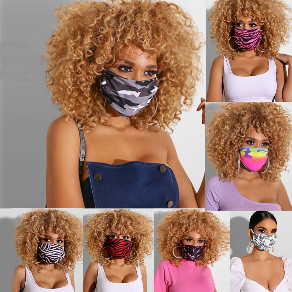 Fashion Print Breathable Print Washable Breathable Face Cotton Washable Face Mouth Windproof Mouth-muffle Adult  Respirator#E20