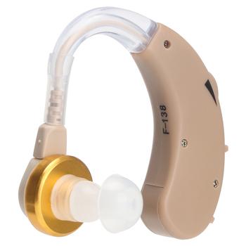F-138 aparat słuchowy regulacja głośności wzmacniacz dźwięku głosu wzmocnienie słuchaj wyraźnie dla starszych głuchych aparatów słuchowych tanie i dobre opinie GLOMEVE AG13 button cell battery (included) 450Hz ~ 3500Hz 4 6 x 3 8 x 0 9cm 130dB+5dB 48dB+5dB D C 1 5V
