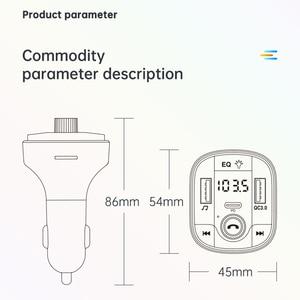 Image 5 - BC70 USB מטען לרכב Bluetooth 5.0 FM משדר רדיו מתאם תצוגה כפולה אלחוטי דיבורית שיחת MP3 מוסיקה נגן