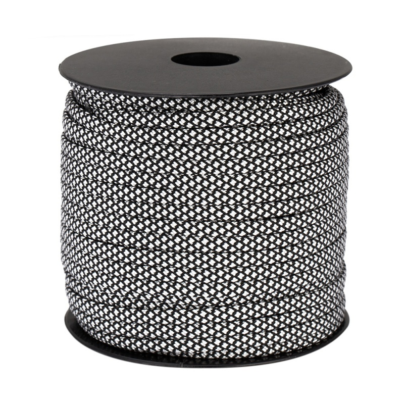 50m Reflective Paracord 4mm Paracord 7 Strand Core Outdoor Camping Rope Parachute Cord Lanyard Tent Multifunction Cordave