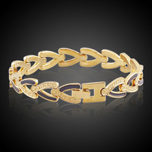 bracelet with 18 k gold plated copper jewelry wholesale heart-shaped manufacturers selling a undertakes