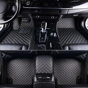 Custom car floor mats for Kia rio sportage sorento cerato soul optima Niro Opirus Borrego VQ carnival Carens SHUMA Cad