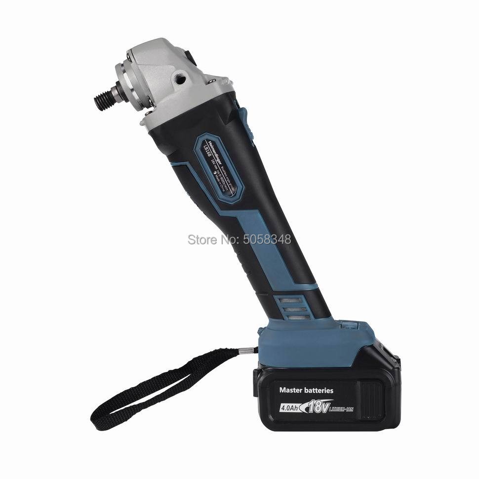 Brushless Cordless Angle Grinder Impact With Two 18V 4000mAh Lithium Batteries