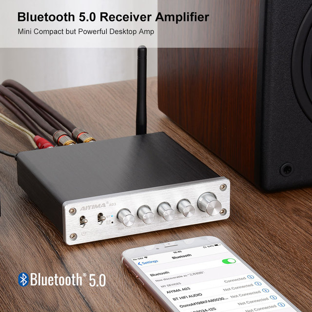 AIYIMA TPA3116 Subwoofer Bluetooth Amplifier 50W*2+100W DC12-24V 2