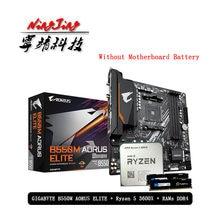 AMD Ryzen 5 R5 3600X CPU + GA B550M AORUS ELITE anakart + Pumeitou DDR4 8G 16G 2666MHz RAMs takım soket AM4 olmadan soğutucu