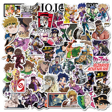 50Pcs Jojos Bizzare Adventure Stickers for Motorcycle Car Luggage Laptop Bicycle Fridge Skateboard Anime Notebook Stickers