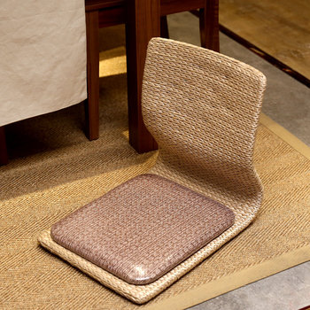 Simple Lazy Chair Straw Tatami Bay Window Chair Balcony Floor Legless Chair Living Room and Room Chair