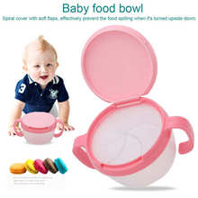 Bowl Bpa-Free Baby Kids Children Spill-Proof with Flaps Tableware Dual-Handle