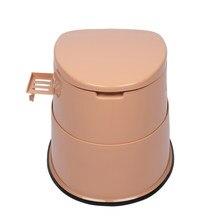 Wc portátil com esteira antiderrapante nivelamento poderoso com menos bombeamento do banheiro à prova de vazamento toalete acampamento conveniente