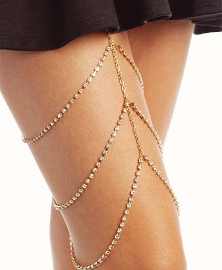 Fashion Jewelry Personalized Nightclub Body Chain Simple And Sexy Full  Multi-layered Leg Chain