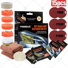 Refit Headlight Restoration Light Polisher Kit Polished Headlight kit Car Wax Polish Auto Wax Detailing Car Sanding Polishing