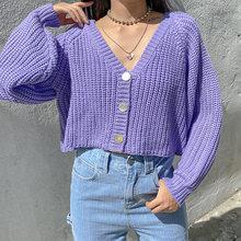 Hunter желание v образным вырезом свитер для девушек укороченные