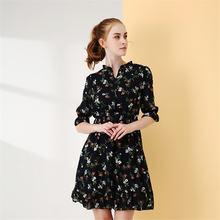 Ymwmhu модный бренд черное винтажное женское платье с коротким