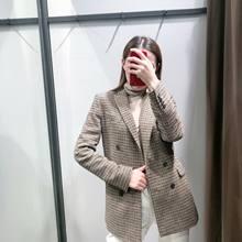 Винтажный Блейзер женская зимняя одежда шерстяные костюмы в