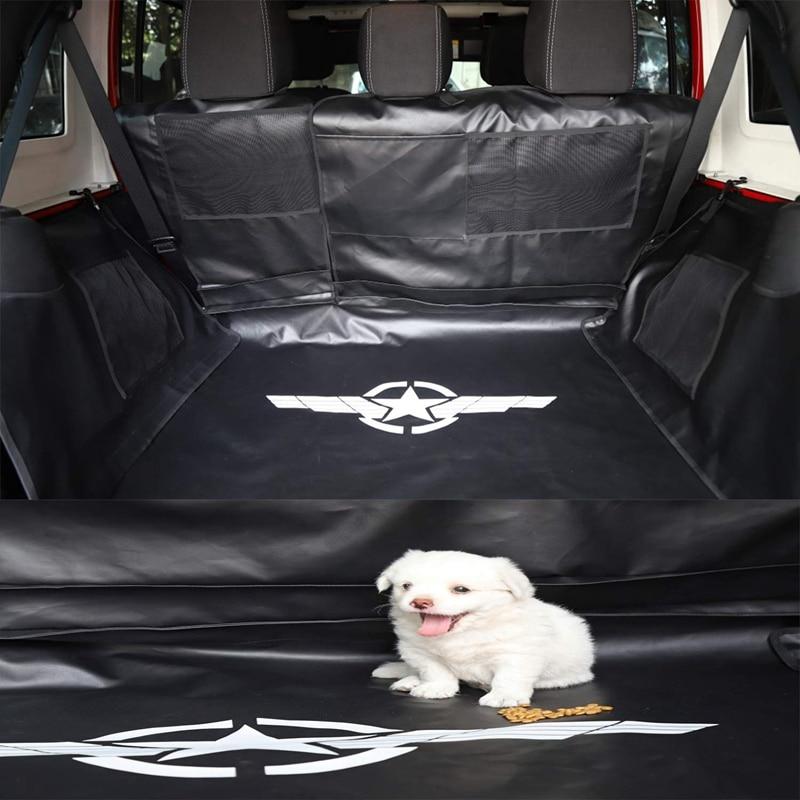 Pet Seat Proof Covers Dog Seat Covers For Jeep Wrangler Jk Jl 4-Door 2007+ Hammock With Waterproof Stain-Resistant Hypoallergeni