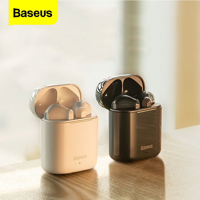 Baseus TWS Wireless Bluetooth Earphone Intelligent Touch Control Wireless TWS Earphones With Stereo Bass Sound Smart Connect