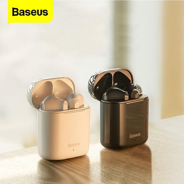 Baseus TWS سماعة لاسلكية تعمل بالبلوتوث سماعة ذكية تعمل باللمس التحكم اللاسلكية TWS سماعات مع ستيريو باس الصوت الذكية الاتصال