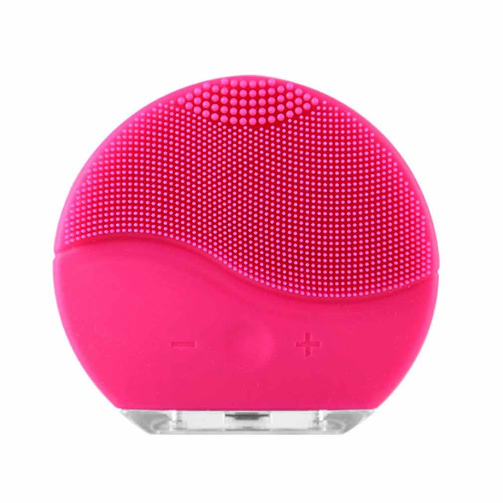 USB şarj edilebilir ultrasonik elektrikli yüz temizleme yüz yıkama fırçası titreşim cilt siyah nokta Remover gözenek temizleyici masaj