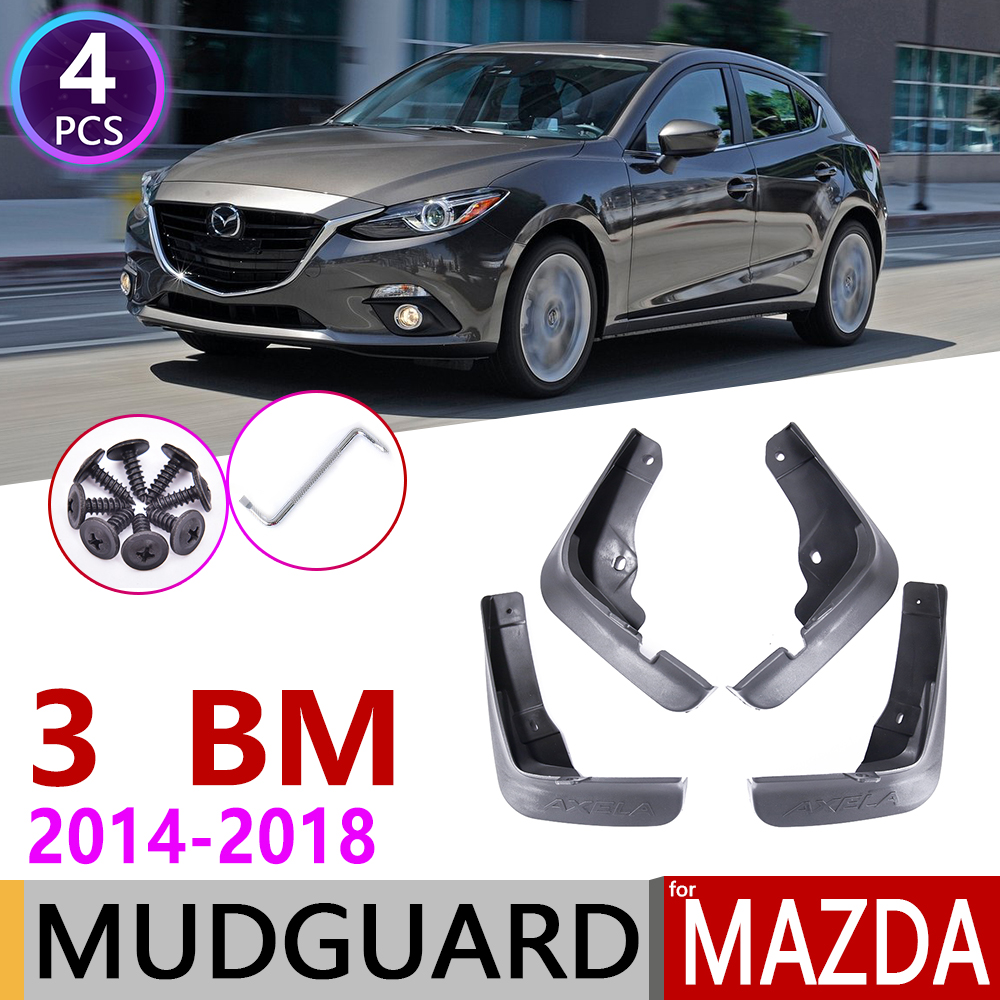 Car Mudflap for <font><b>Mazda</b></font> <font><b>3</b></font> BM Axela Hatchback 2014~<font><b>2018</b></font> Fender Mud Guard Flap Splash Flaps Mudguards <font><b>Accessories</b></font> 2005 2006 2007 image