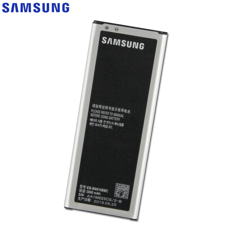 Original Replacement Samsung <font><b>Battery</b></font> For Galaxy NOTE4 N9100 N9106W N9108V N9109V <font><b>NOTE</b></font> <font><b>4</b></font> With NFC EB-BN916BBC <font><b>3000mAh</b></font> image