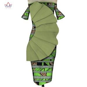 Платья в африканском стиле для женщин; Одежда с принтом; Драпированные платья с принтом; Vestidos; Bazin Riche Africn Ankara; Вечерние короткие платья; WY5476