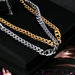 Necklace for women's stainless steel Punk Chain necklace Curb Cuban Link Chain Chokers New 2021 Chain Necklaces Jewelry Gift
