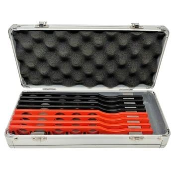 Retinoscopy Rack Lens Set Plastic Bar Aluminium Case Board Lenses 8 Bars 40 Lens Optometric Retinoscopy