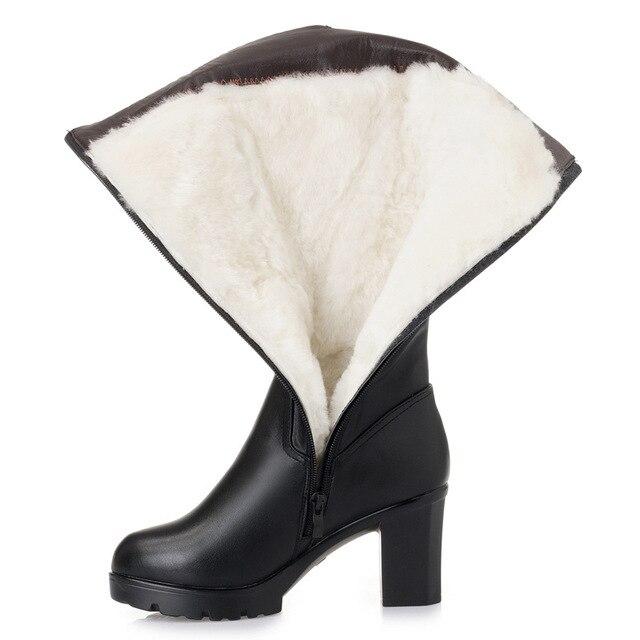 Купить женские зимние высокие сапоги новый стиль кожаные женские размер картинки