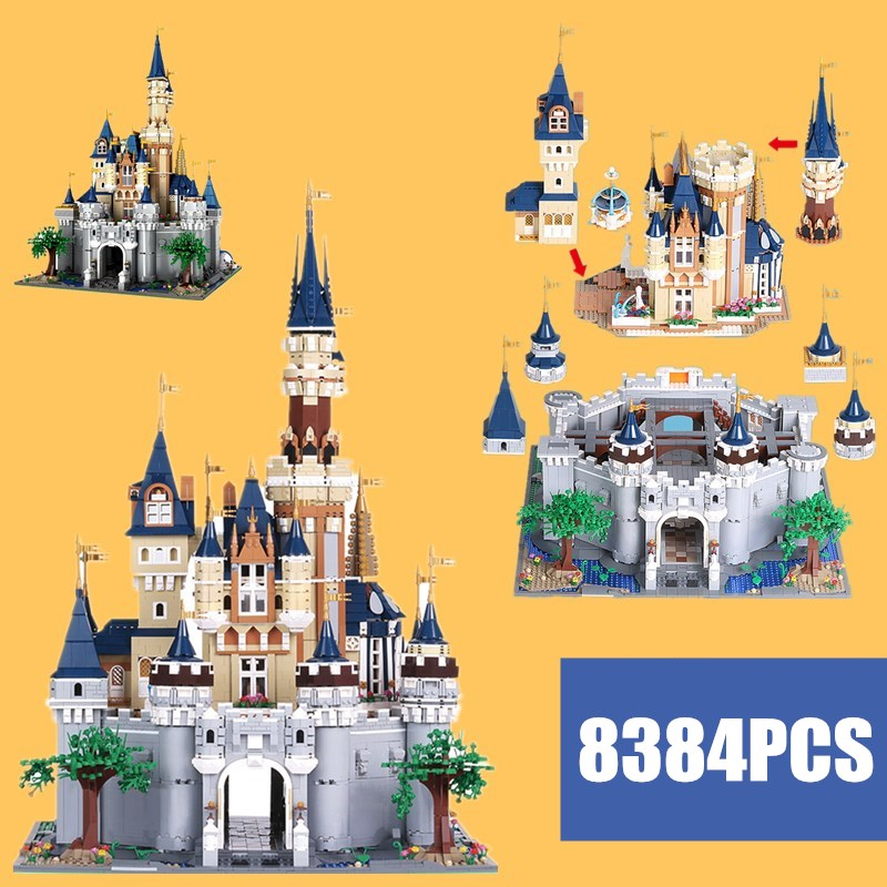 New 8384PCS Cinderella Princess Girls City Fit Lepinings Castle Friends Model Building Block Bricks Toy Birthday Kid Gift image