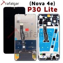 شاشة عرض ترافالغار لهاتف هواوي P30 لايت شاشة LCD Nova 4E تعمل باللمس مع محول رقمي لشاشة هواوي P30 لايت مع استبدال الإطار
