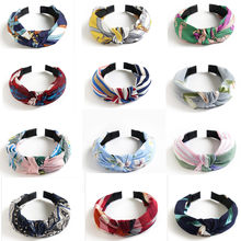 Womens Headband Twist Hairband Bow Knot Cross Tie Velvet Headwrap Hair Band Hoop Hair Accessories(China)