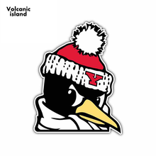 13cm x 10.3cm For Youngstown State Penguins Funny Car Stickers Occlusion Scratch Decal Car Bumper Window Stickers(China)