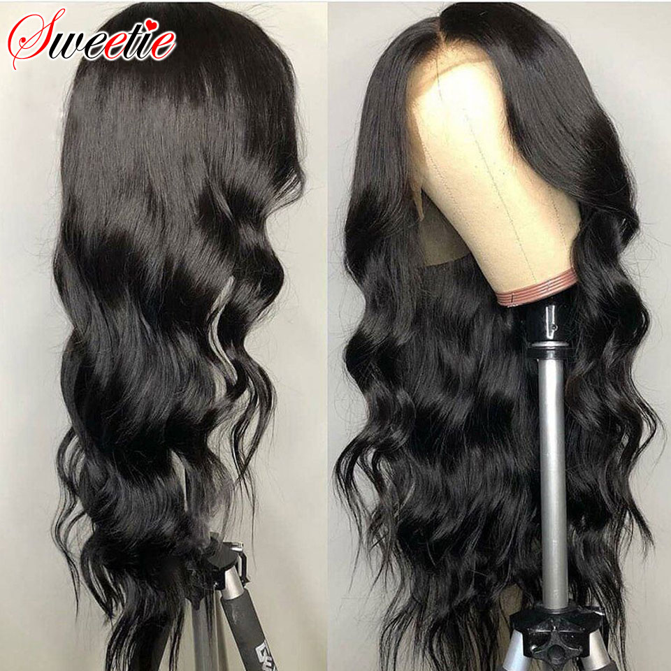 Sweetie Lace Front Human Hair Wigs Pre Plucked 13x4 Lace Frontal Wig 150 Density 13x6 Brazilian Remy Body Wave Lace Front Wig