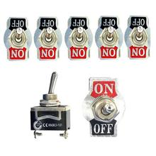 цена на 5pcs SPST 2 Pin Rocker Switch Car Boat Heavy Duty 15A 250V ON/OFF Rocker Toggle Switches + Waterproof Boot