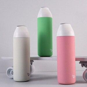 Image 2 - Youpin CC + akıllı vakum yalıtım şişesi seyahat kupa öpücük öpücük balık vakum termos OLED sıcaklık ekran fincan 3 filtreler