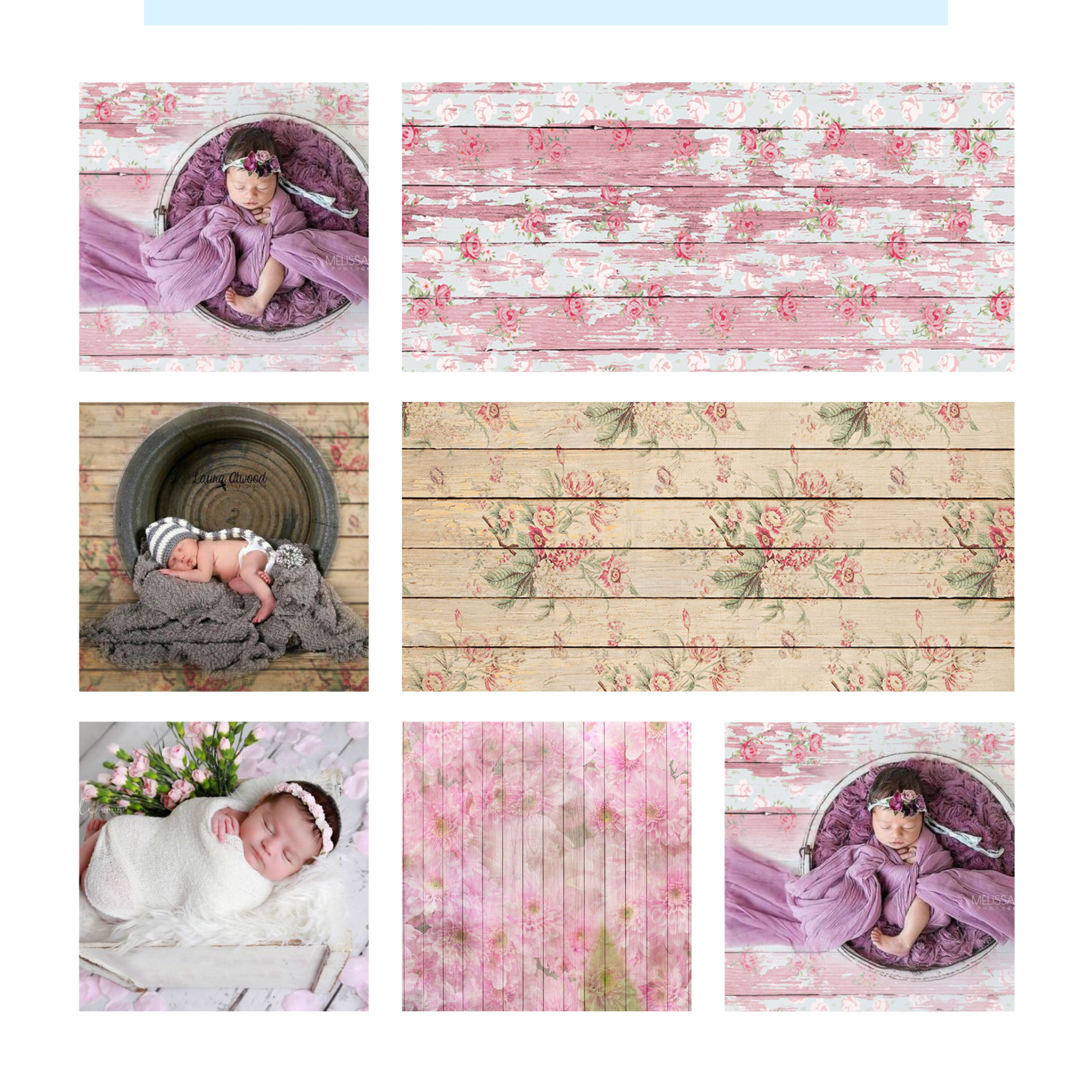 Photo Background Photography Backdrops Professional booth Wood Floor Newborn Birthday Children studio