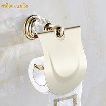 Accessoires pour salle de bain de luxe cristal doré porte papier hygiénique, porte rouleau papier, distributeur, produits