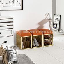 Shoe-Stool-Light Storage Home-Hallway Changing-Stool Entrance Nordic Luxury Small Combination