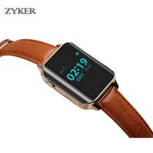 ZYKER Luxury Smart Watch for man GPS LBS Tracker Sports Smartwatch Heart Rate Monitor SOS Call Smart Reminder PU Wristwatch New