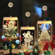 Рождественская акриловая тарелка «Дед Мороз» световая гирлянда
