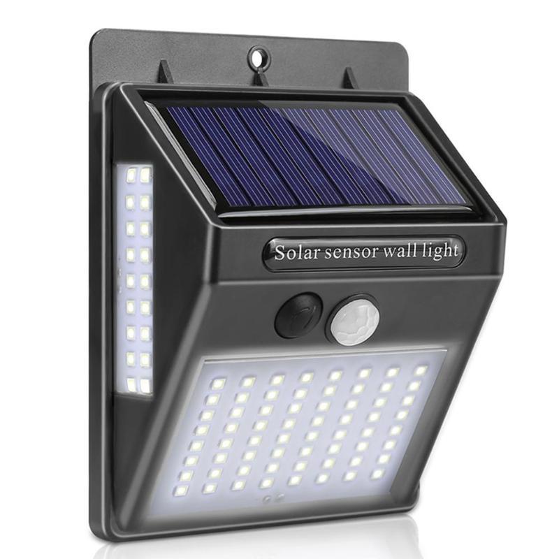 Outdoor Wall Light 100LED Solar Motion Sensor Waterproof Security Light Control And Human Sensing Garden Yard Street Lamp