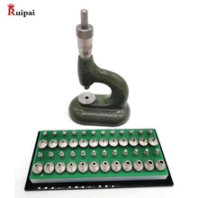 Joyero de relojero con tornillo micrométrico y juego de 24 empujadores de bomba copia de MSA 13.100 (bergeon 5372)
