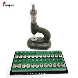 Uhrmacher der Jewelling mit Blattwinkelmikrometereinstellung Schraube und Set von 24 Pumpe Drücker Ambosse Kopie von horia MSA 13,100 (bergeon 5372)
