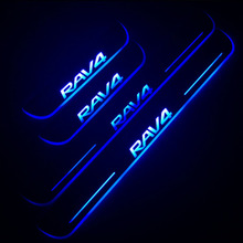 цена на LED Door Sill For Toyota RAV4 2016 2017 2018 Door Scuff Plate Pathway Pedal Threshold Welcome Light Car Accessories