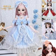 60 см модное платье bjd кукла макияж 18 подвижных суставов diy